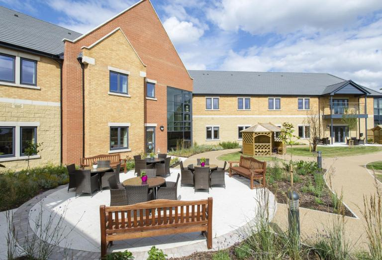 Broadway court care home m c national roofing and for Nursing home garden design